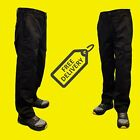 Mens Combat Cargo Work Trousers Size 28 to 54 Black Or Navy - SHORT REG LONG