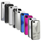 Silver Black Pink White Aluminum Design Case Hard Chrome Cover For iPhone 4 4S