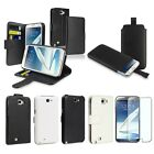 Black/White Wallet Leather Case Pouch For Samsung Galaxy Note 2 N7100 LCD FILM