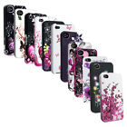 Black/Pink/White Heart Flower Spring Blossom Case For iPhone 4 4S 4GS Gen