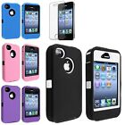 Black Purple Pink Blue Rugged Rubber Matte Hard Skin Case Cover For iPhone 4 4S