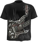 SPIRAL DIRECT Air Guitar Kids/Youth/Boys/Child T-shirt/Top/Tee, biker/metal/rock