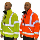 Exceptional Hi Viz Fleece Super Jacket Safety Workwear Coat Fully Fined, Class 3