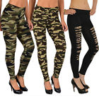 Damen Leggings Leggins Legging Hose Army Look Leging Camouflage Military L12