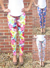 LONG Length Leggings Summer Floral Holiday Print SIZES 8 - 18  Tall