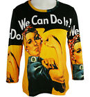 Breeke & Company - Rosie the Riveter, Hand Silk-Screened Woman's Artistic Top