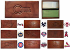 CHOOSE TEAM Checkbook Cover New MLB Highest Quality All Leather Brown Marbled