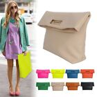 NEW WOMEN'S HANDBAG MESSENGER COLORFUL FOLD-OVER CLUTCH TOTES EVENING BAG PURSES