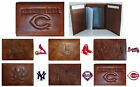 CHOOSE TEAM Wallet Trifold Highest Quality New All Leather MLB Tri-fold Marbled