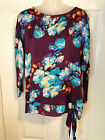 BNWOT Ladies Ex-M&Co. All Over Floral Print Satin Top - Size 12-18