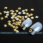 Lot 1000 Punk Gold Silver Alloy 3D Square Nail Art Studs Glitters DIY Decoration
