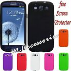 SILICONE GEL CASE COVER SKIN FOR SAMSUNG GT-I9300 GALAXY S3 SIII +SCREEN GUARD