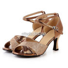 Fashion Women's Tango Latin Ballroom Dance Heeled  Soft Sole Shoes New