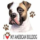 American Bulldog Love T Shirt Pick Your Size