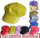 Girls Patent Shinny Dance Stage Costume Party Newsboy Bakerboy Baker boy Cap Hat