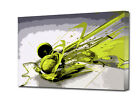 DJ HEADPHONES  MODERN ART CANVAS  ART PRINT BOXED  EZ0214