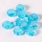70pcs diamond blue shining bright Beads Faceted Glass Crystal Spacer Bead N8686