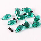 20pcs/140pcs green waterdrop bright Bead Faceted Glass Crystal Spacer Bead N8693