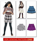 SALE! SEWING PATTERN! MAKE GIRLS SKIRTS~SHORTS! SCHOOL CLOTHES! SIZE 3-6 OR 7-14