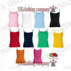 Fruit of the Loom Lady-Fit Strappy 100% Cotton t-shirt Womens Vest s m l xl 2xl