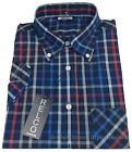 Relco Bold Check SS Shirt - NAVY RED WHITE AQUA Classic 60s Button Down Mod Skin