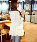 Women Long Sleeve OL Back Chiffon Button Down Casual Blazer Suit Jacket Outwear
