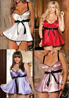Gift Valentine's Day PLUS SIZE Womens Sexy Sleepwear Babydoll Robe LINGERIE 8-24