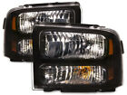 05-07 FORD F250 F350 F450 SUPERDUTY HARLEY BLACK HEADLIGHTS HEADLAMP PAIR NEW