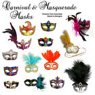 CARNIVAL MASQUERADE EYE MASK - Assorted Styles & Designs - Stick / Tie-on - NEW