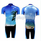 Cool Cycling Bike Short Sleeve Clothing Bicycle Sportwear Suit Jersey + Shorts
