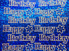 PEEL OFFS Hologram Two Sheets Of Happy Birthday Stickers Cardmaking Scrapbooks