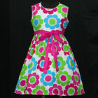 Blue Red w113 UkG White Hotpink Green Summer Birthday Party Girls Dress 3,4,5-9y