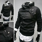 Casual Hoody Coat Jacket Men's Slim Fit Comfy Stylish Designed Outerwear 4 Color