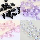 50Pcs Teardrop Mixed Glass Faceted Loose Beads Charms Jewelry Making 10*6mm 2720