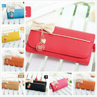 7 colors Ladies girls Clutch Purse Lady Long Handbag Wallet PU   leather