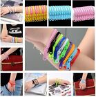 2014 Pair Wholesale Rainbow Acrylic Punk Zipper Zip Candy Colour Bangle Bracelet