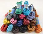 WAXED THIN COTTON SHOE LACES SHOELACES - 2mm wide - 90cm long - LOTS OF COLOURS!