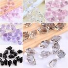 50pcs Faceted Glass Crystal Spacer Teardrop Finding Beads Jewelry Making 10*6mm