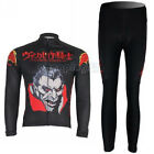 Fleece Thermal Winter Cycling Bike Bicycle Clothing Long Sleeve Jersey + Pants