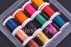 12pcs 3Yards/Spools Copper Metal Wire Craft Jewelry Finding Colors 0.3/0.4/0.5mm