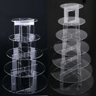 5 、7 Tier Circle Acrylic Cupcake Party Wedding Cake Stand Holder Display