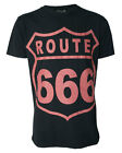 Darkside Clothing Route 666 Road Sign Straight To Hell Short Sleeved Tshirt