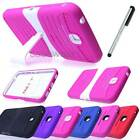 For Samsung Galaxy Tab 3 7.0 Deluxe Impact Kickstand Hard Case Cover Stylus NEW