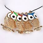 20/100pcs Mixed New Enamel Hollow Owl Charms Alloy Pendant Findings Fit Necklace