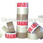 STRONG PACKING TAPE - BROWN / CLEAR / FRAGILE 48mm x 50M Rolls PARCEL TAPE