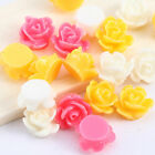 100pcs colors Roses Flowers Plastic Acrylic Charms Beads 5*8mm KP2579
