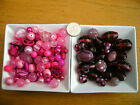 100g Mixed Glass Beads in Pink - Lampwork/Faceted/Pearl and Shells