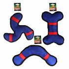 Pet Dog Toy Squeaky Bone & Boomerang Shapes Tough Lightweight Fetch & Throw Play
