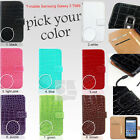 Y Crocodile PU Leather Wallet Case Cover T-mobile Samsung Galaxy S 2 II S2 T989