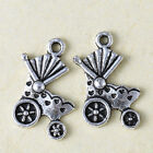 20PCS Tibetan Silver nice delicate baby carriage Charms Pendant 19*12mm kp0483